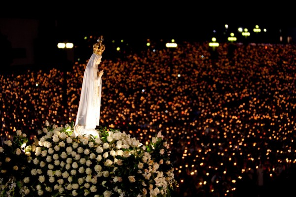 Fatima Sanctuary, Portugal, at Night