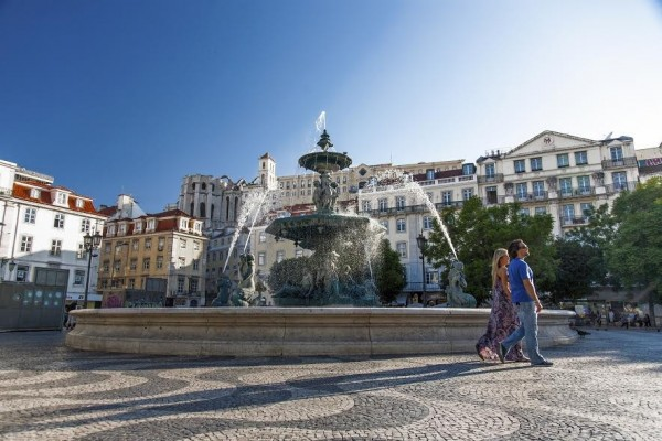 Rossio Square Lisbon View